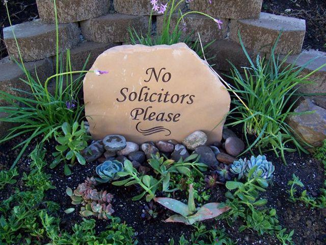 No Solicitors Please